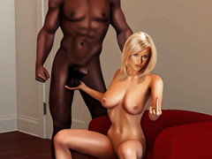 Interracial cuckold - Give me that..