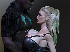 Open up real wide slut - Interracial..