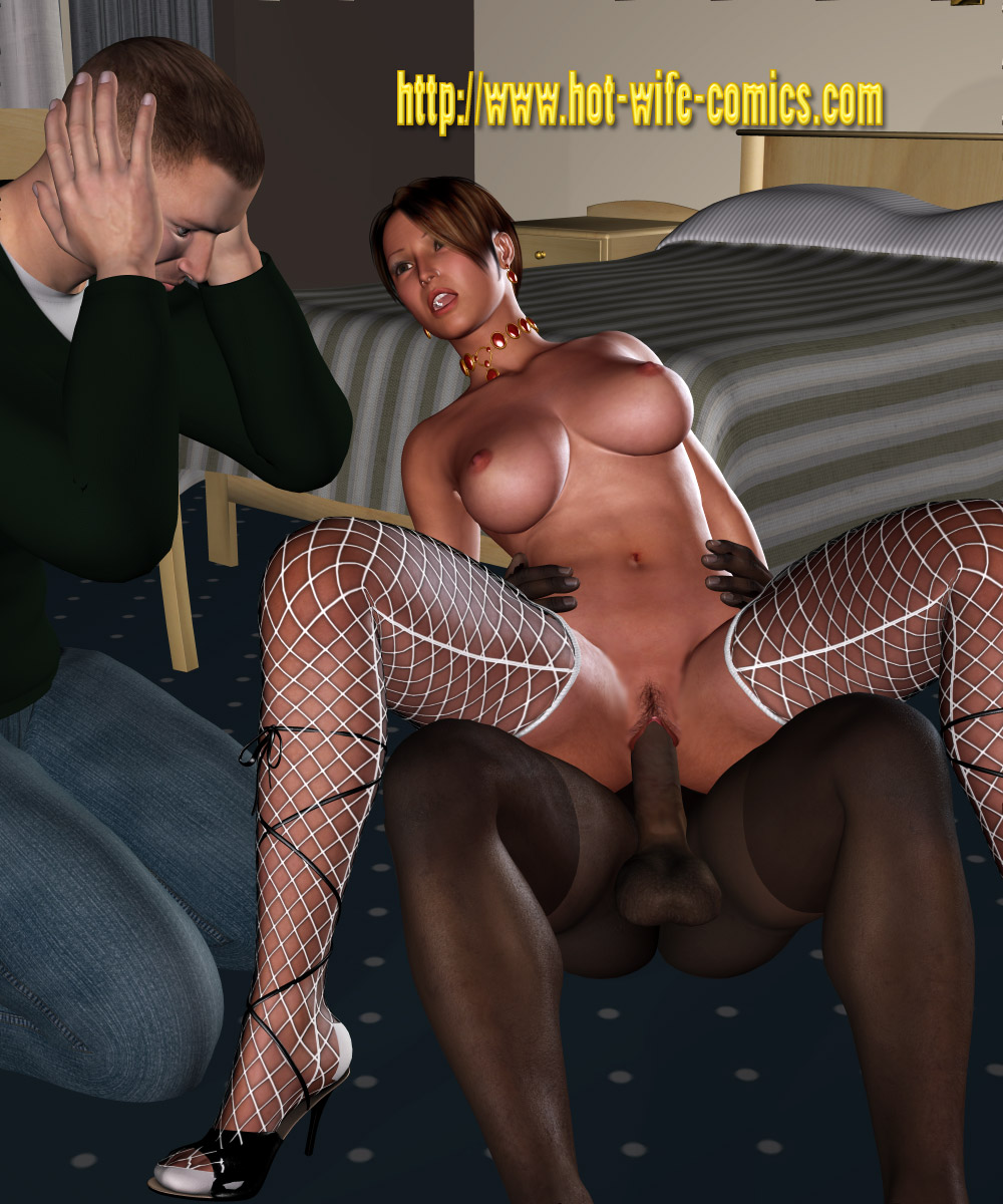 interracial wife dirty - Hubby watching his wife by hot wife comics!